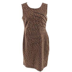 CALVIN KLEIN Space Dye Ponte Knit Sheath Dress 12